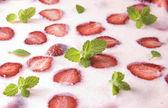 Fresh strawberry cake — Stock Photo