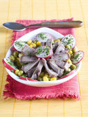 Salad from a beef tongue — Stock Photo