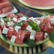 Stock Photo: Watermelon and feta cheese salad