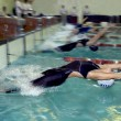 Stock Photo: Swimmers start