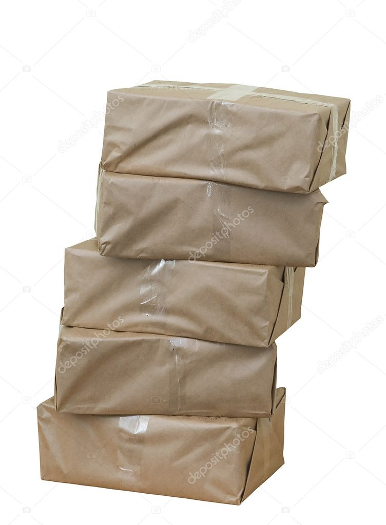 Cardboard boxes againt white background — Stock Photo #2882722