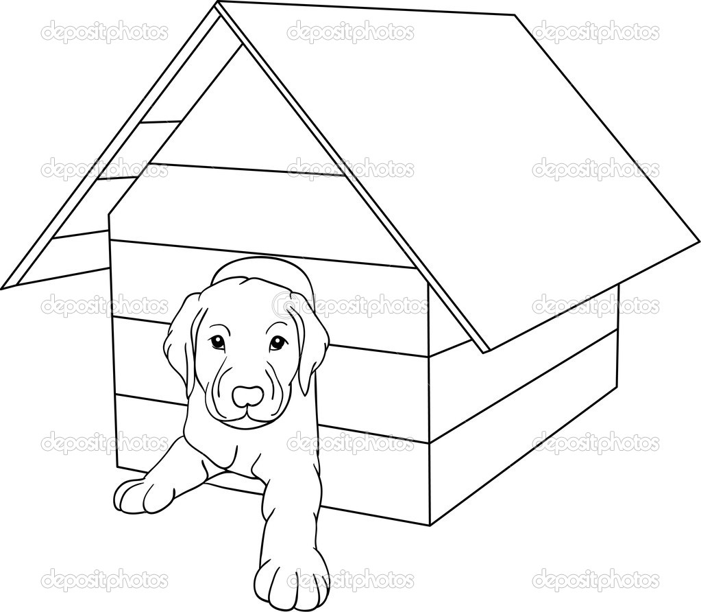 Free Coloring Pages Of Drawing Inside The House