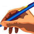 Hand with pen — Stock Vector