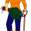 Royalty-Free Stock Imagen vectorial: Woman gardening