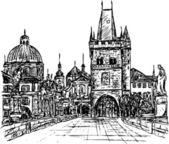 Prague — Stock Vector