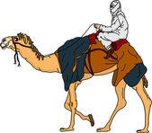 Beduino — Vettoriale Stock