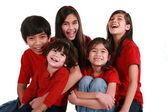 Fünf Geschwister — Stockfoto