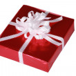 Red present with white bow — Stok Fotoğraf #2720041