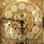 Elegant grandfather clock face — Stock Photo