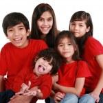 Five siblings — Stock Photo
