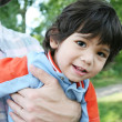 Happy little boy smiling — Stock Photo #3121804