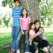 Stock Photo: Beautiful brother and sisters
