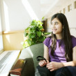 Young teen girl in waiting room — ストック写真 #3121949