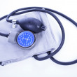 Stock Photo: Old blood pressure cuff