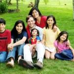 Multiracial family — Stock Photo