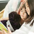Two girls reading a book — Stock Photo #3122330