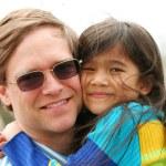 Holding my little girl — Stock Photo