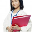 Child playing doctor — Stock Photo