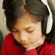 Listening to music — Foto Stock