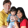 Stock Photo: Multiracial family