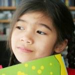 Little girl thinking — Stock Photo