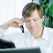 Handsome businessman working — Stock Photo