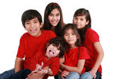 Five siblings — Stock Photo