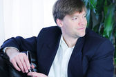 Stilig affärsman英俊的商人 — 图库照片