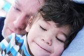 Hora de la siesta con mi papá — Foto de Stock