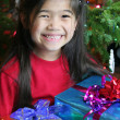 Happy child with Christmas gift — Photo #3221918