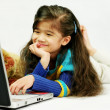 Enjoying laptop — Stock Photo