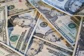 Pile of twenty dollar bills — Stock Photo