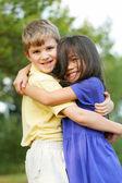 Childhood friendship — Stock Photo