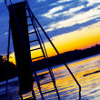Slide set into lake at sunset — Stock Photo #3540207