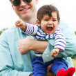 Father and son enjoying the outdoors — Stock Photo #3540690