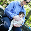 Father and son enjoying the park — Stock Photo #3540760