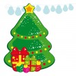 Royalty-Free Stock Vector Image: Christmas tree and presents