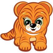 Pequeno tigre — Vetor de Stock