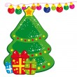 Christmas tree and presents - Stock Vector