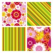 Easter set of  backgrounds with seamless - Stock Vector