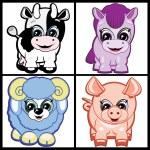 Set of Little Animals - Farm — Stock Vector #2866820