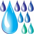 Set of water drops — Stock Vector