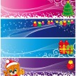 Set of christmas banners — Stock Vector #2866903