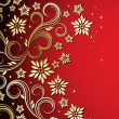 Holiday floral background — Vettoriali Stock