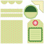 Set of green design elements — Stock Vector #2884695