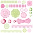 Set of elements for. Collection- for Mom - Stock Vector