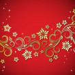Holiday floral background - Imagen vectorial