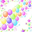 Royalty-Free Stock Vector Image: Party Balloons and Stars. Vector.