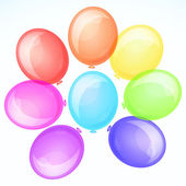 Vector background with balloons. — Stock Vector