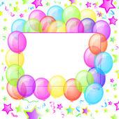 Party Balloons Banner. Vector. — Stock Vector